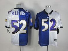7809d7cb09f Nike Ravens #52 Ray Lewis Purple/White Men's Embroidered NFL Elite Split  Jersey Richard