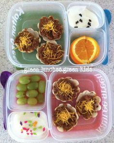 Fiesta Taco Cups in a lunch box.