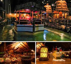 The Tonga Room at the Fairmont, SF. One of world's Top 10 Tiki bars...it rains inside, the band plays in a boat. Beyond festive. One of our family favorites.