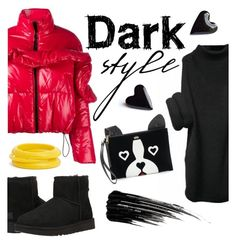 """""""dark style"""" by janesmiley ❤ liked on Polyvore featuring MSGM, UGG Australia, Juicy Couture, Urban Decay and ZENZii"""