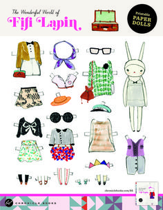 Fifi Lapin Paper Doll :D  Chronicle Books