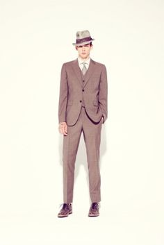 How very 40's! Perfect for my vintage wedding theme. Marc Jacobs Menswear Collection by geraldine