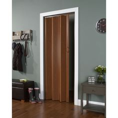 Homestyle Metro Beech with Frosted Squares Folding Door | Room ...
