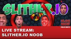 SLITHER.IO NOOB - Philip Denys Live Stream Just me learning how to play this game slither.io