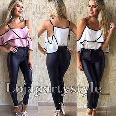 zpr Modelo @primaiav  LOJA.partystyle.com.br  Calça  de couro Fake cirré 145,00 dividido em 3 X sem juros TAM P M G  BLUSA CIGANINHA R$120,00  Vendidos separadamente  Site: LOJA.PARTYSTYLE.COM.BR * #lojapartystyle_ #modafeminina #modacasual #modapraia #moda #fashion #tendencia #trend #verao #summer #ss16 #sale #promocao #gift #presente #vendasonline #ecommerce #lojavirtual #macacaolongo #calcaflare #courofake