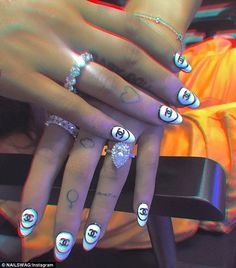 bhad bhabie nails  bhad bhabie in 2019  pinterest