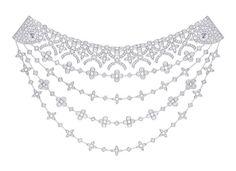 Louis Vuitton 'Voyage dans le temps' Dentelle de Monogram necklace, inspired by Marc Jacobs' catwalk designs.   Via The Jewellery Editor.