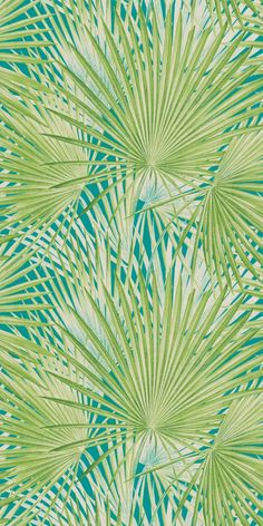 803310 Tropical palm leaf turquoise green Rasch Wallpaper A green and teal tropical palm design from the Rasch Lucy in the Sky collection. Palm Wallpaper, Tropical Wallpaper, Green Wallpaper, Wallpaper Online, Print Wallpaper, Wallpaper Roll, Turquoise Wallpaper, Leaves Wallpaper, Rugs
