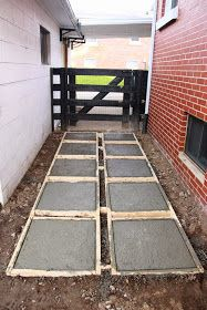When I last left off, we were just getting started planning out the spacing for our pavers so we could make our form.      We had purchased ...