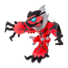 Official Legendary Pokémon Yveltal Poké Doll. Over 9 inches tall. Three tremendous felt claws and embroidered details make this Dark-type Pokémon stand out. Pokémon Center Original design.