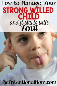 Are you wondering how to manage your strong willed child? I've got 2 strong willed kids and they've taught me a few things. Here's what's worked well for me