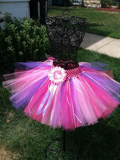 Pink and purple tutu 4T5T by SunshinesTutus on Etsy, $25.00