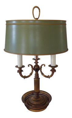 Green Bouillotte Table Lamp on Chairish.com
