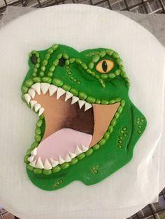 2d t rex cake