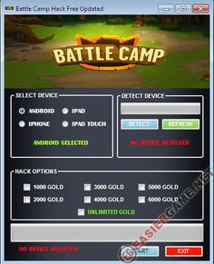Unlimited Gold in Battle Camp  Download Battle Camp Cheats:  http://easiergame.net/battle-camp-cheat-hack-ios-android-2014/