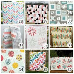 36 Different Free Quilt Patterns - WOW!    From U-Createcrafts.com.  THANKS FOR THE LOVE!