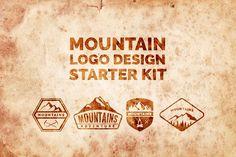 Mountain Logo Design Starter Pack by Calvin Weibel - free file week beginning October 31 Mountain Logos, Mountain Designs, Business Brochure, Business Card Logo, Pencil Illustration, Graphic Illustration, Illustrations, Badge Design, Logo Design