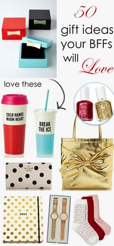 50 Gift Ideas Your BFFs Will Love. and me ahahah Diy Christmas Gifts, Holiday Gifts, Craft Gifts, Diy Gifts, Creative Gifts, Unique Gifts, Cute Gifts, Best Gifts, Just In Case