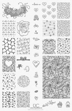 Love and Marriage-02 - UberChic Beauty Nail Stamping Plate