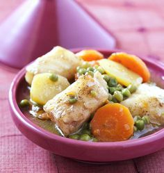 Tajine de cabillaud aux légumes, la recette d'Ôdélices : retrouvez les ingrédients, la préparation, des recettes similaires et des photos qui donnent envie !