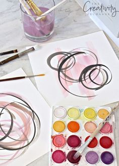 Tutorial for making abstract watercolor art to frame.