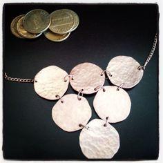 hand forged, recycled copper penny jewelry Photo by zonazonazona