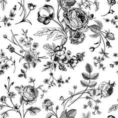 Papel de Parede Floral 1555