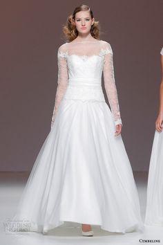 Cymbeline Bridal 2015 | long sleeve wedding dress illusion neckline
