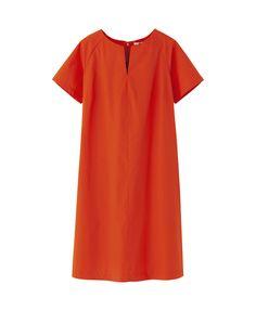 cute staple item: WOMEN CRISP COTTON SHORT SLEEVE DRESS