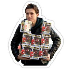 'tom holland' Sticker by M Meyer Meme Stickers, Bubble Stickers, Cool Stickers, Printable Stickers, Laptop Stickers, Tom Holland, Spiderman Stickers, Aesthetic Stickers, Toms