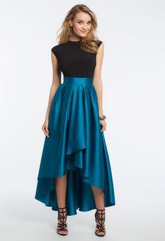 Indie Ruffle Hem High Low Chiffon Maxi Skirt (159290 PYG) ❤ liked ...