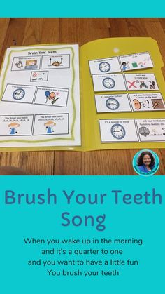 Are you looking for a fun song to help children find brushing their teeth an adventure? This cute son combines clock time with a rhyme. Fun Songs, Kids Songs, English Language Learners, Speech And Language, Special Education, Helpful Hints, Teeth, Poems, Useful Tips