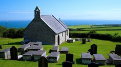 Church on the Hillside Irish Sea, Anglesey, North Wales, St Michael, Art And Architecture, Entrance, Cathedral, Coastal, Around The Worlds