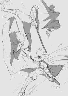 Shirou Emiya limited over essence Drawing Base, Manga Drawing, Figure Drawing, Drawing Sketches, Drawings, Manga Poses, Anime Poses, Poses References, Drawing Reference Poses
