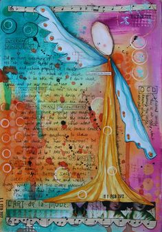 Kate Crane- love the journaling incorporated into the background