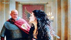 Morgana fighting the knights of Camelot without her magic. I love how she took that guy out while wounded. She is amazing. (gif set)