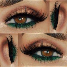 Makeup for brown eyes: 24 best brown eye makeup ideas Makeup für braune Augen: 24 beste braune Augen Make-up-Ideen – Luise.site Makeup for brown eyes: 24 best brown eye makeup ideas - Makeup Looks For Brown Eyes, Makeup For Green Eyes, Blue Eye Makeup, Glitter Makeup, Eyeshadow Makeup, Eyeshadow Palette, Eyeshadow Ideas, Green Eyeshadow, Eyebrow Makeup