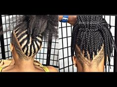Discover recipes, home ideas, style inspiration and other ideas to try. Crochet Braids Marley Hair, Crotchet Braids, Shaved Side Hairstyles, Mohawk Hairstyles, Natural Hair Tips, Natural Hair Styles, Braids With Shaved Sides, Braid Styles, Weave Styles