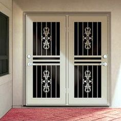 Also Good For The Patio Doors! Lots Of Colours, Designs And Pet Door  Options! Security Screen Doors For Double Entry