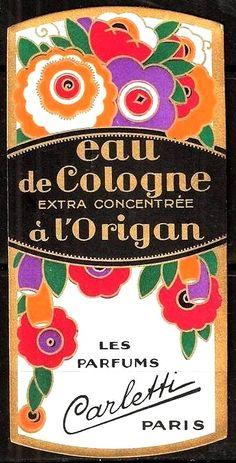 Perfume label, Paris