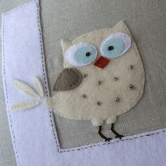 Owl Pillow - Order with initial of your choice