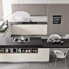 Kitchen Room Design, Kitchen Cabinet Design, Kitchen Layout, Kitchen Interior, Home Interior Design, Kitchen And Kitchenette, Condo Kitchen, Modern Kitchen Cabinets, Small U Shaped Kitchens