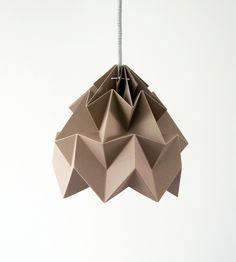 Moth origami lampshade brown. €59.00, via Etsy.