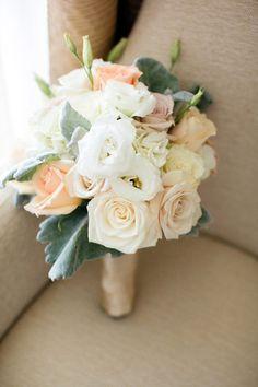 Rose bouquet: http://www.stylemepretty.com/florida-weddings/key-biscayne/2013/09/30/key-biscayne-wedding-at-the-rusty-pelican-from-elaine-palladino-photography/ | Photography: Elaine Palladino - http://www.elainepalladino.com/