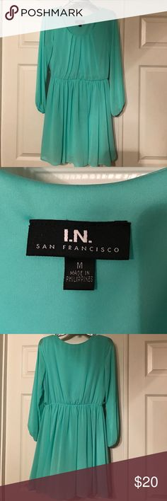 IN San Francisco Brand Juniors size Medium Dress IN San Francisco Brand Juniors size Medium Dress, long sleeve, worn once. Has small loops for a thin belt but there is no belt with this dress. IN San Francisco Dresses Long Sleeve