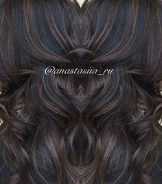 chocolate highlights and balayage on dark or black hair . chocolate highlights and balayage on dark or black hair . Curly Hair Styles, Natural Hair Styles, Hair Color And Cut, Braided Ponytail, Up Girl, Balayage Hair, Soft Balayage, Bayalage, Fall Hair
