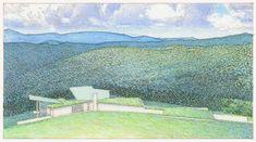 Conceptual Architecture, Elevation Drawing, Skylark, Blue Ridge Mountains, Comic Art, Lush, Sketches, Landscape, Architectural Drawings