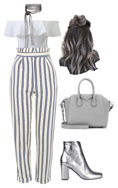 """""""Sans titre #1524"""" by frenchystyle ❤ liked on Polyvore featuring Topshop, Yves Saint Laurent, Givenchy and Fallon"""