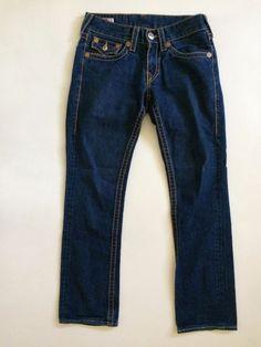 "True Religion Rainbow Ricky Mens Jeans Size 29 Authentic Inseam altered to 31"" #TrueReligion #ClassicStraightLeg"