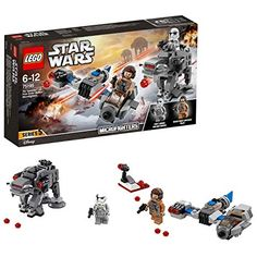 Recreate your own exciting scenes from the blockbuster Star Wars: The Last Jedi movie with this LEGO Star Wars Ski Speeder vs First Order Walker 75195 Set. Lego Star Wars, Star Wars Minifigures, Star Wars Toys, Lego Ninjago, Lego City, Series Da Disney, Jouet Star Wars, Numbers For Kids, Lego Construction